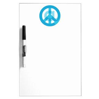 Blue @Peace Sign Social Media At Symbol Peace Sign Dry-Erase Board