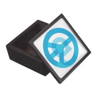 Blue @Peace Sign Social Media At Symbol Peace Sign Jewelry Box