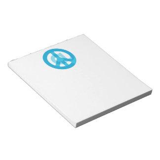 Blue @Peace Sign Social Media At Symbol Peace Sign Notepad