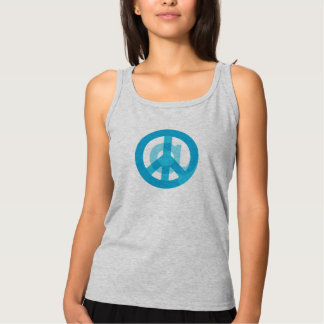 Blue @Peace Sign Social Media At Symbol Peace Sign Tank Top