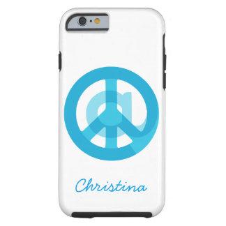 Blue @Peace Sign Social Media At Symbol Peace Sign Tough iPhone 6 Case