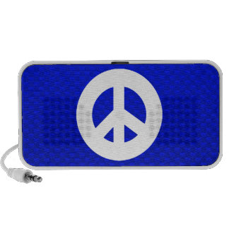 Blue Peace Sign Mini Speaker