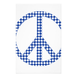 Blue peace sign stationery
