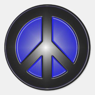Blue Peace Sign Sticker