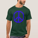 Blue Peace Sign T-Shirt