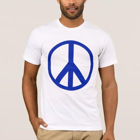 Blue Peace Sign T-Shirt