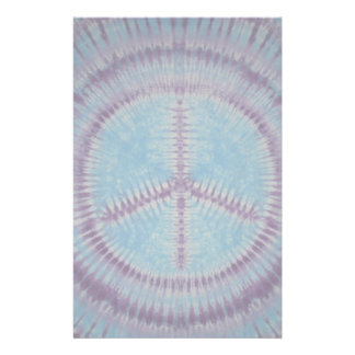 Blue Peace Sign Tie Dye Stationary Stationery