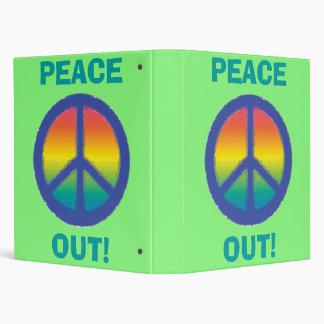 Blue Peace  Sign Vinyl Binder
