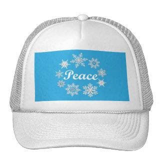 Blue Peace Snowflakes Hats