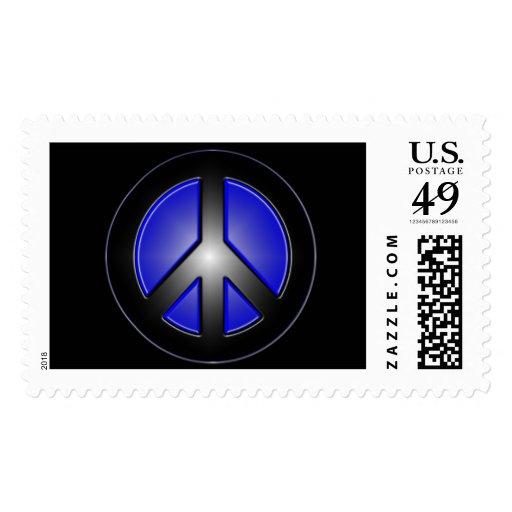 Blue peace stamp