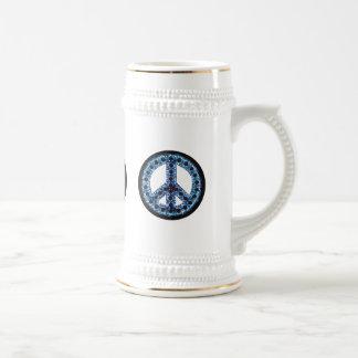 Blue Peace Stein Mug