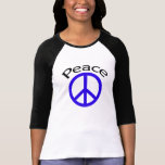 Blue Peace & Word T-Shirt