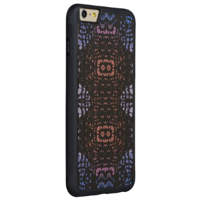 Blue Peach Abstract Carved® Maple iPhone 6 Plus Bumper Case