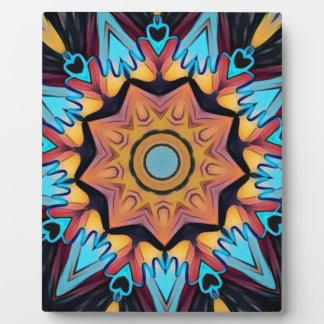 Blue Peach Artistic Mandala Plaque