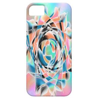 Blue & Peach Flower iPhone SE/5/5s Case