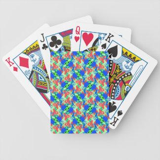 Blue-Peach-Green Poker Cards