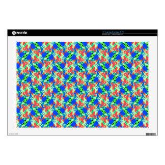 Blue-Peach-Green Laptop Decal