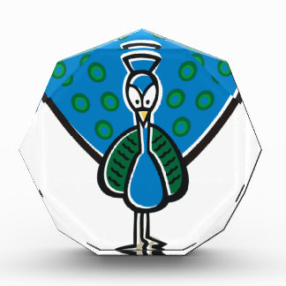 Blue Peacock Acrylic Award