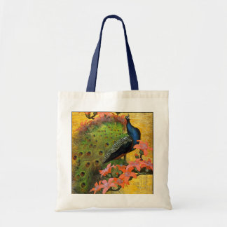 Blue Peacock Budget Tote Bag