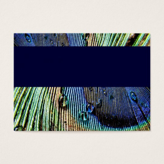 Blue Peacock Business Card