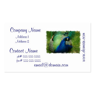 Blue Peacock Business Cards