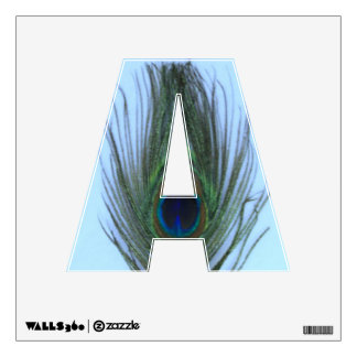Blue Peacock Feather A Wall Decal