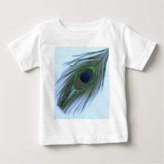 Blue Peacock Feather Baby T-Shirt