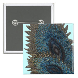 Blue Peacock Feather Pins