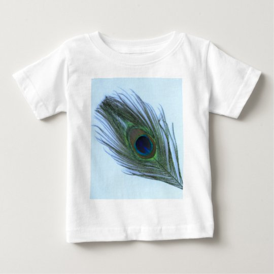 Blue Peacock Feather D Baby T-Shirt