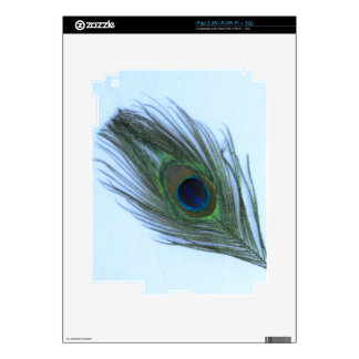 Blue Peacock Feather iPad 2 Decal