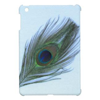 Blue Peacock Feather iPad Mini Case