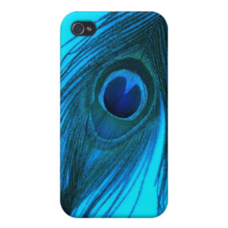 Blue Peacock Feather iPhone 4/4S Case
