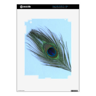 Blue Peacock Feather P Decal For iPad 2