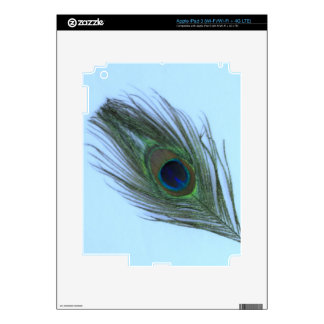 Blue Peacock Feather P Skin For iPad 3