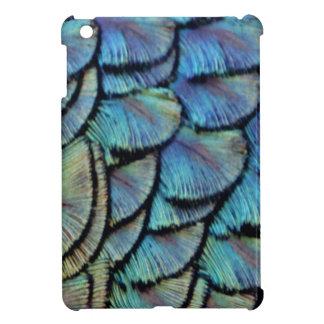 Blue Peacock Feathers iPad Mini Cover