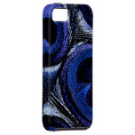 Blue Peacock Feathers iPhone SE/5/5s Case