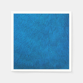 Blue peacock feathers disposable napkin