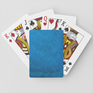 Blue peacock feathers playing cards