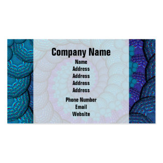 Blue Peacock Fractal Pattern Business Card