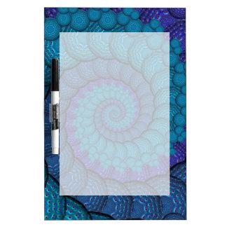 Blue Peacock Fractal Pattern Dry-Erase Whiteboards