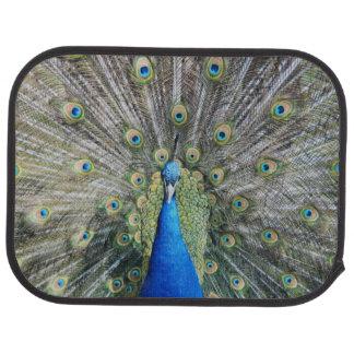 Blue Peacock Full Plumage Floor Mat