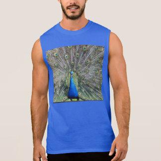 Blue Peacock Full Plumage Sleeveless Shirt