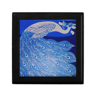 Blue Peacock Mosaic Jewelry Boxes