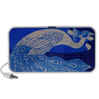 Blue Peacock Mosaic Travelling Speakers