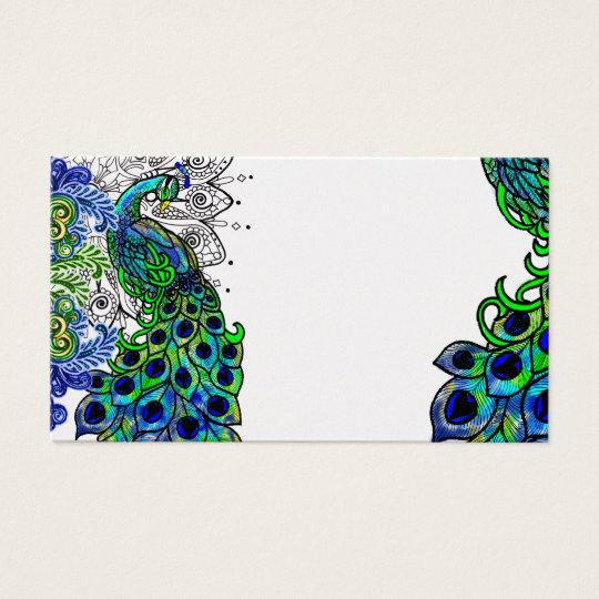 Blue Peacock Profile Card