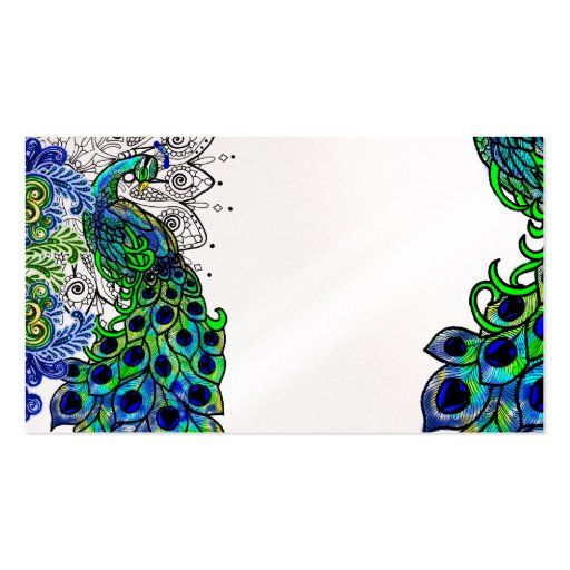 Blue Peacock Profile Card Double-Sided Standard Business ...