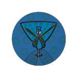 Blue Peacock Round Wall Clocks