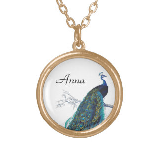 Blue Peacock with beautiful tail feathers Pendants