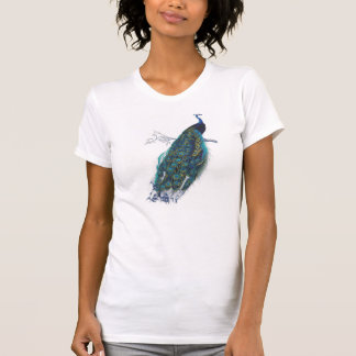 Blue Peacock with beautiful tail feathers T Shirts
