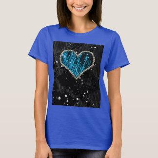Blue Pearl Heart T-Shirt